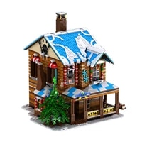 3693pcs christmas toys christmas house building blocks kids christmas gifts block assembly educational toy with light and music