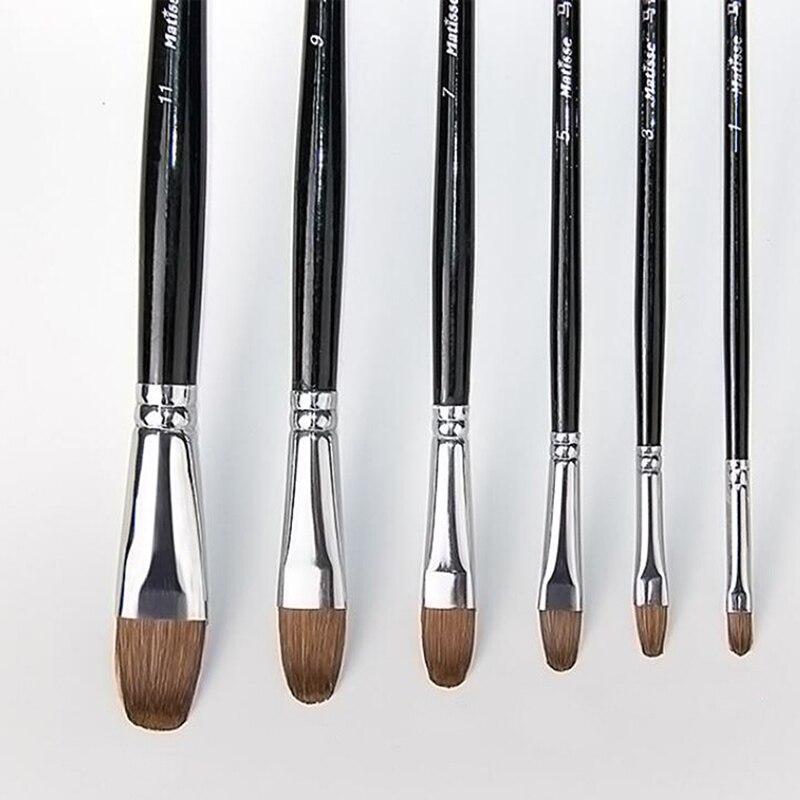 De Madera de pincel acuarela pincel para pintar con acrílico conjunto de dibujo de pintura de arte cepillo lápiz artista pinceles para pintura al óleo