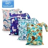 eezkoala baby mini cloth diaper bags zippered dry wet bag waterproof backpack reusable washable diaper wet bag 2518 cm