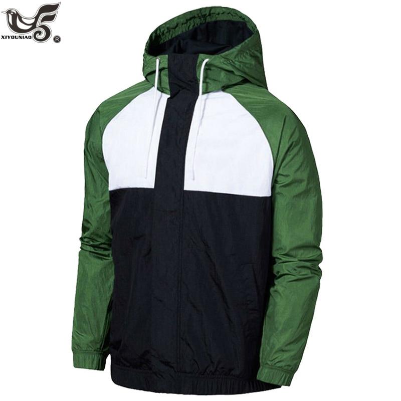 Men's Casual Bomber Jacket Brand Hoodie Baseball sportswear Streetwear Coat Male Fashion Windbreaker Jackets outwear clothing