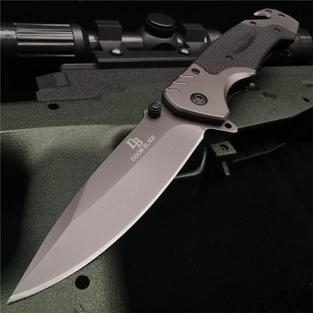 23 سنتيمتر (9 ') 58HRC سكين للفرد جيب السكاكين G10 مقبض التكتيكية في الهواء الطلق بقاء القتال EDC الصيد سكين للفرد s