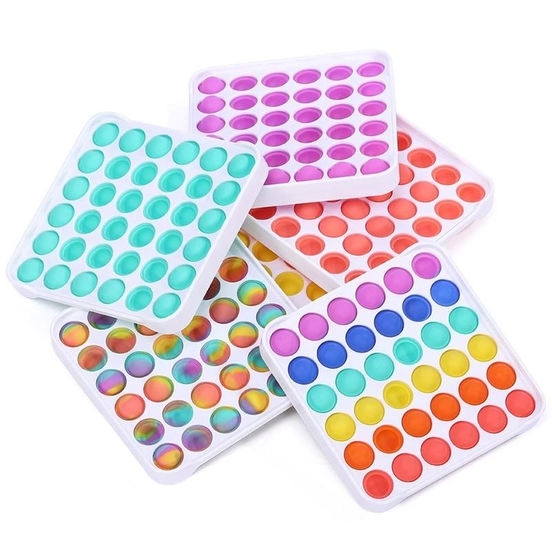 10Pcs New Push Pop Pop Bubble Sensory Fidget Toys Silicone Stress Reliever Toy Squeeze Toy Pop It Fidget Toy enlarge