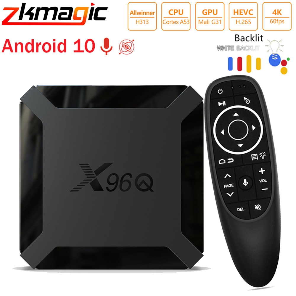 Android TV Box Allwinner H313 Quad Core X96 Q Reproductor Multimedia Inteligente 2GB RAM 16GB ROM X96 Set top Box 2,4G Wifi Android TV box