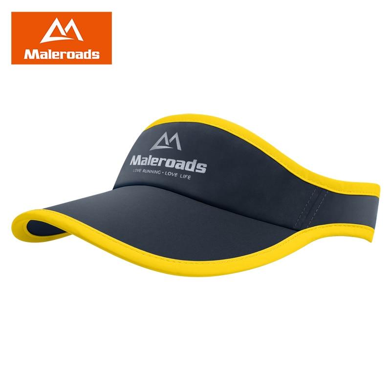 Maleroads Summer Outdoor Sport Marathon Running Caps Ultralight Quick Dry Jogging Visor Cap Golf Tennis Sun Hat For Men Women