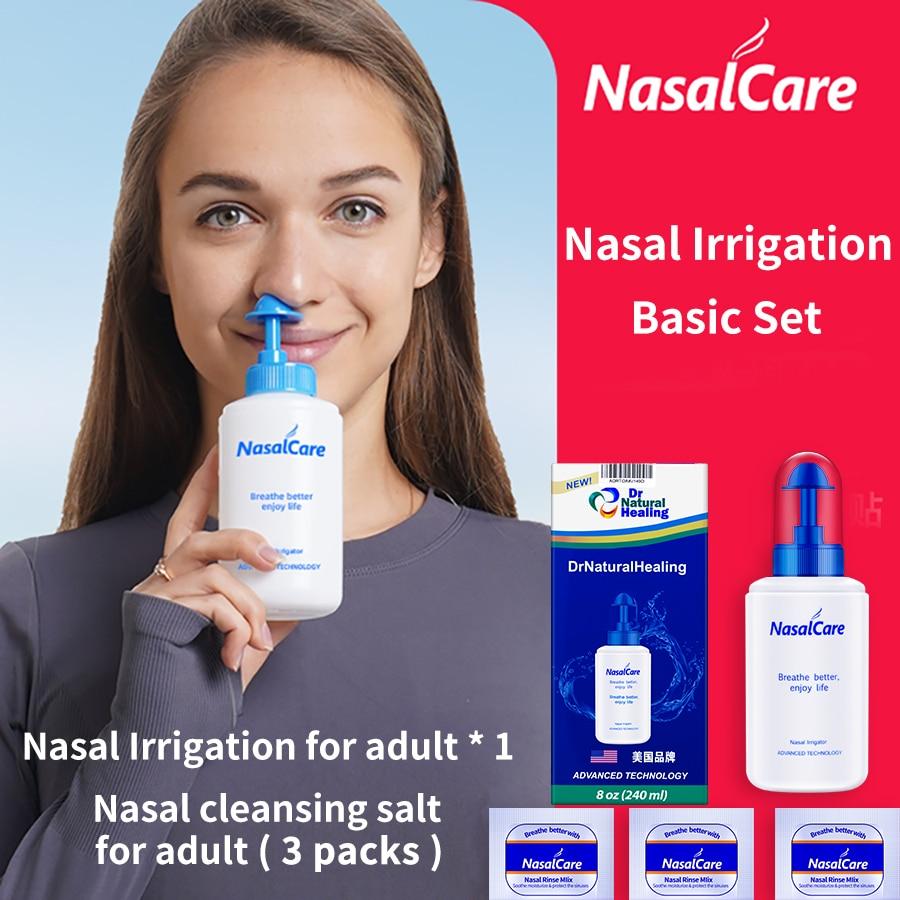 DrNaturalHealing, irrigador Nasal, set básico de lavado Nasal, limpieza de nariz, olla Neti, olla salina, lavado de rinitis, 240ml, 8oz