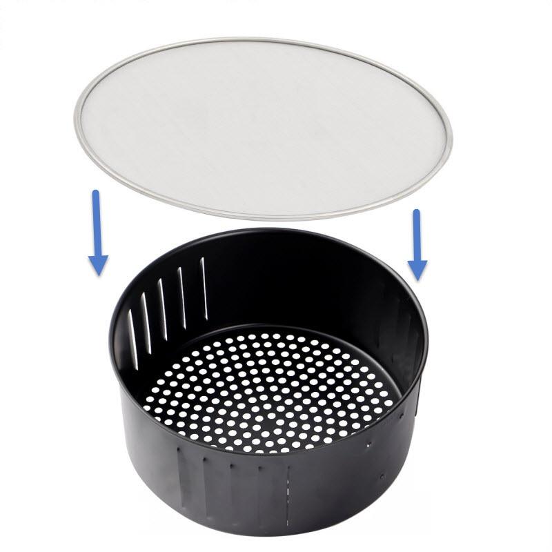 Air Fryer Accessories Stainless Steel Oil Splatter Screen Anti Grease Splash Scald Proof Frying Pan Cover Oil Net 19/21/25CM