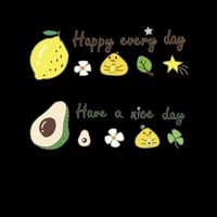cartoon avocado lemon fruit iron on patches heat transfer for stripe on clothes t shirt diy fashion stickers fabric patches