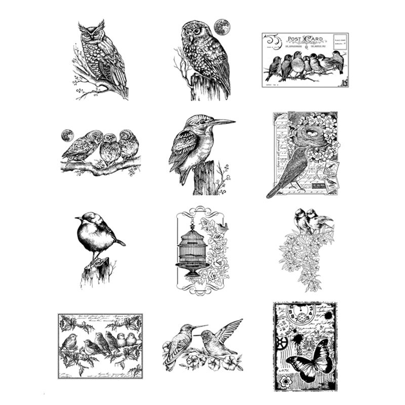 New Arrival Clear Stamps 2021 For Scrapbooking Paper Making Dragonfly Butterfly Bird Account Craft Set Card Transparent Seal