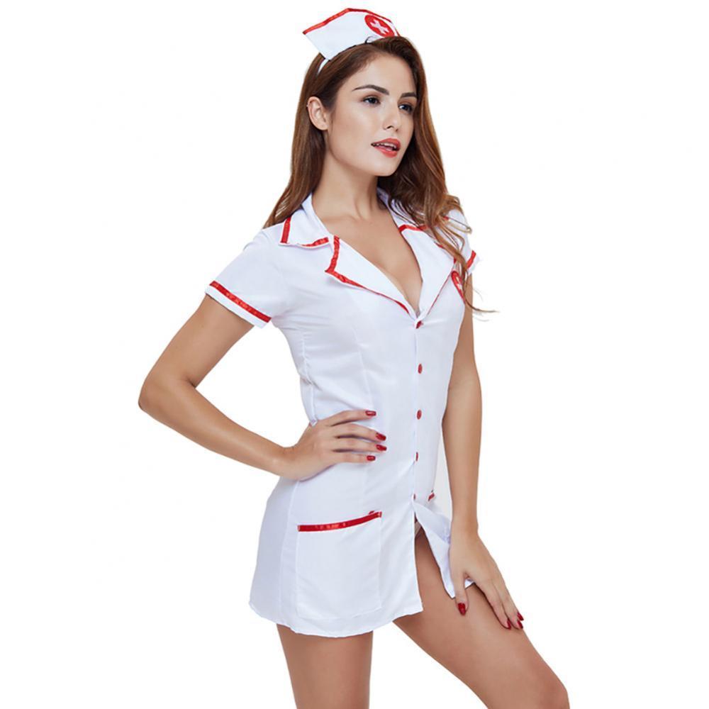 Las mujeres Sexy erótico dama vestido de traje de papel jugar Cosplay uniforme