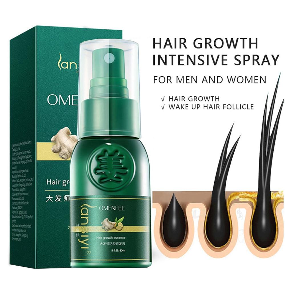 New Ginger Hair Growth Essential Spray Anti Hair Loss Serum 7 Days Effective Germinal Repair Growing