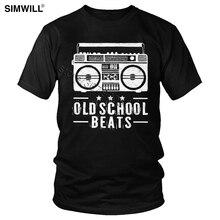 Classique vieille école battre t-shirt hommes coton 70S Radio t-shirt manches courtes col rond t-shirt rétro T-Shirts coupe régulière en gros