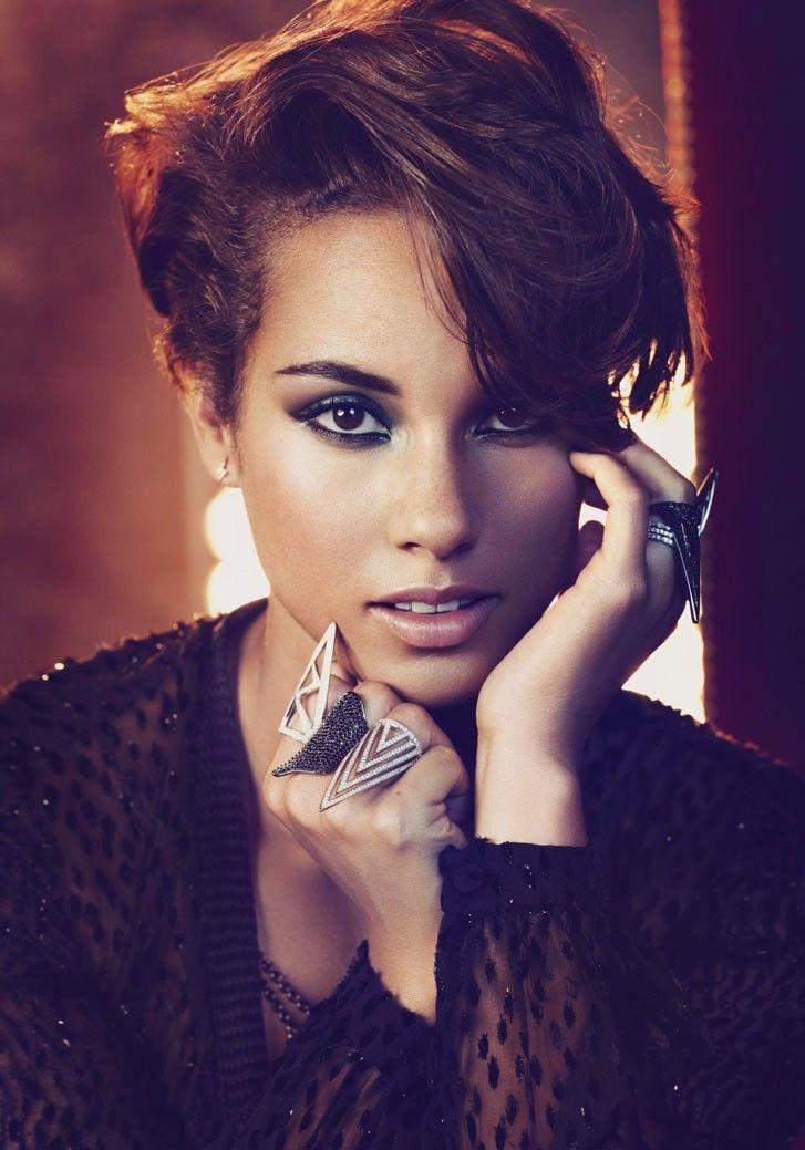 Alicia Keys Music Star 2 póster de seda etiqueta de la pared regalo de decoración