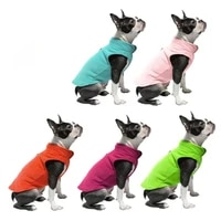 dual color reflective puppy kitten clothes thick solid fleece jacket for small dog cat vest harness costume apparel