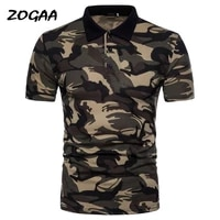zogaa mens polo shirt brand summer camouflage top male short sleeve slim military polo chic male turn down collar all match hot