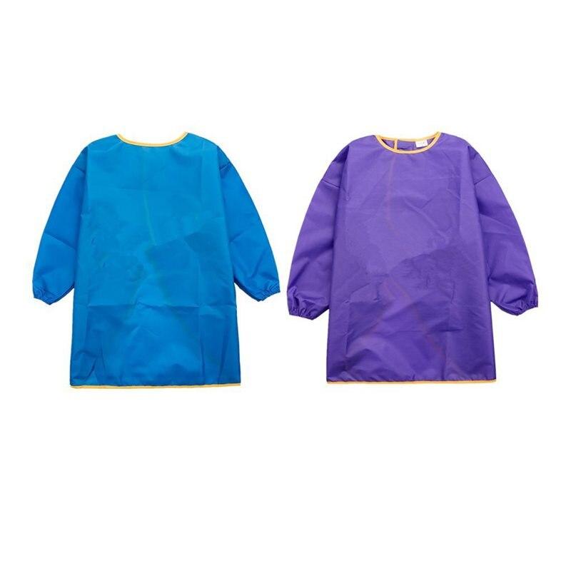 2 uds paños infantiles mime-ropa infantil abrigo-delantal infantil-Malschuerze con mangas largas-morado +...