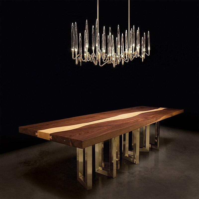 Luxury Crystal pendant chandelier Nordic Tree branch Candle shaped indoor lighting living room bedroom led decoration lights