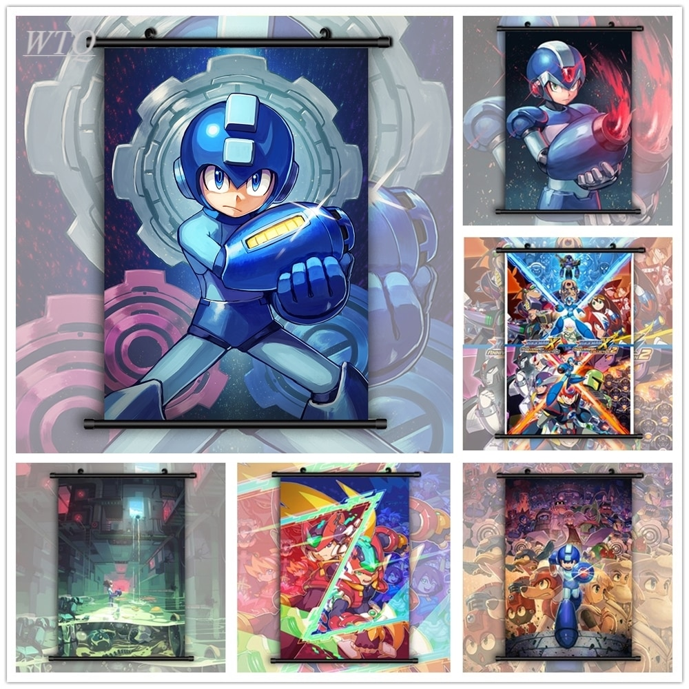 Rockman-póster de pared de Anime Megaman X Zero, carteles de pintura en...