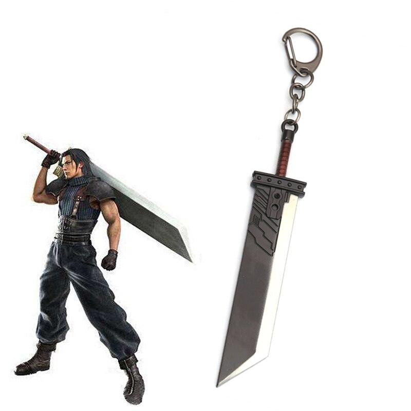 Final Fantasy VII Remake брелок Cloud Strife Zack Fair Buster Sword модельный брелок кулон-оружие Косплей llaveros Chaveiro