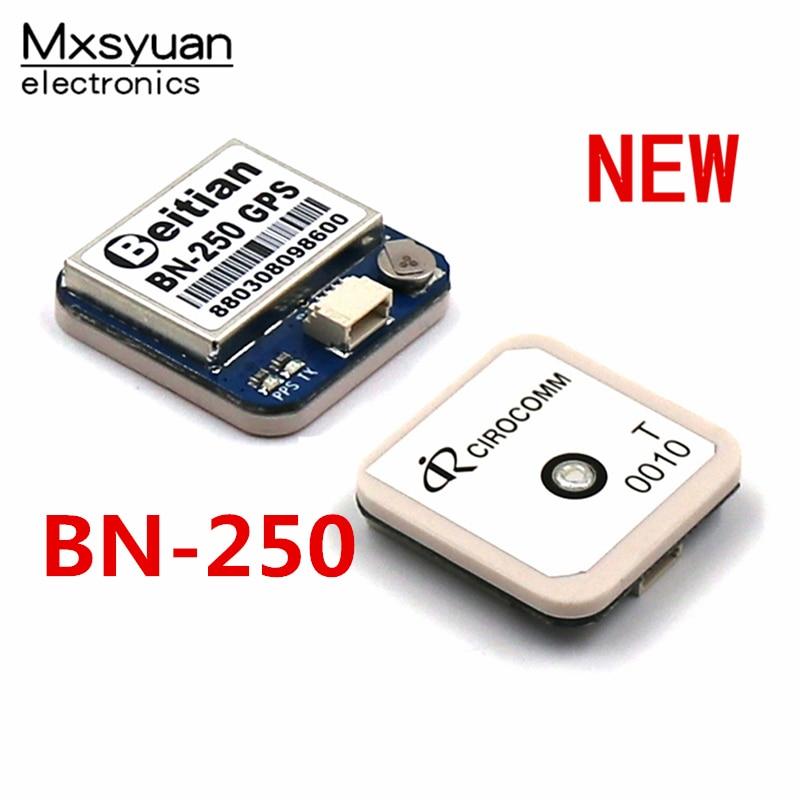 BN-250 25*25*6mm GPS módulo UART de nivel TTL de GPS GLONASS GNSS con MÓDULO FLASH CIROCOMM 0010 antena BN-250