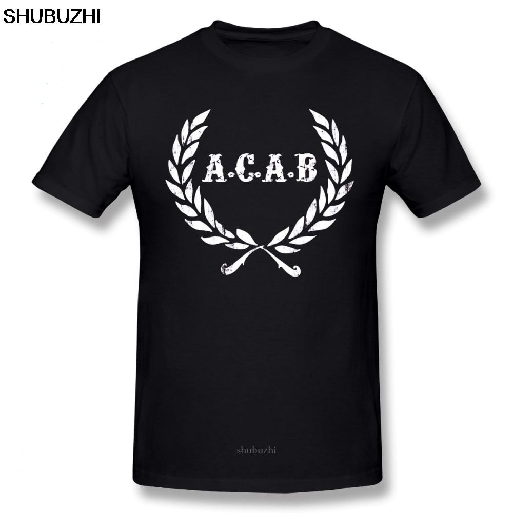 Acab T Shirt A C A B Football ACAB Soccer T-Shirt Men Print Tee Shirt  Cotton Funny Short-Sleeve 6xl Beach Tshirt sbz8048