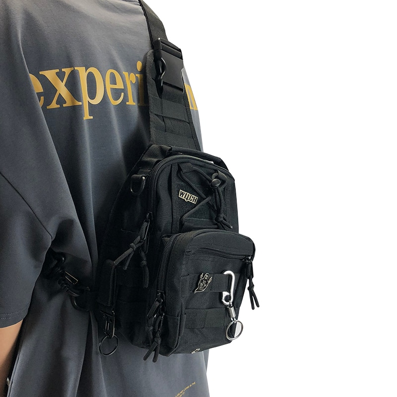 Тактические мужские нагрудные сумки, дизайнерские крутые сумки через плечо для мужчин, в стиле хип-хоп, уличная сумка, Короткие дорожные сумки-мессенджеры
