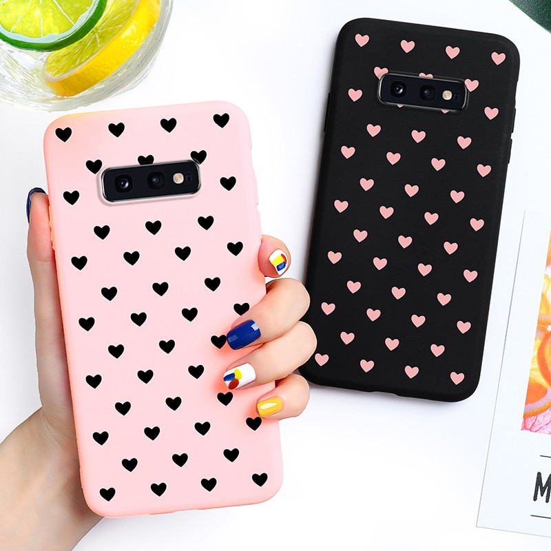 Amor corazón caja de dulces para Samsung Galaxy S10 Lite Samsung Galaxy S10e S10 Youth G9700 G970F 5,8 pulgadas cubiertas silicona suave TPU