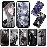 undertaker black butler kuroshitsuji phone case for huawei honor view v 5 7 8 9 10 20 30 x s play lite pro cover