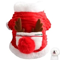 new cute dog clothing christmas pet costume warm dress up pet winter coat cat clothes dog apparel puppy outfit home dog coat