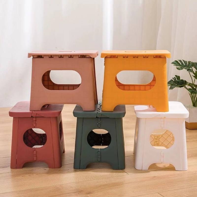 Folding Stool Plastic Household Space Saving Thickened Детская мебель Shoe Changing Chair Children's Bench Outdoor Portable