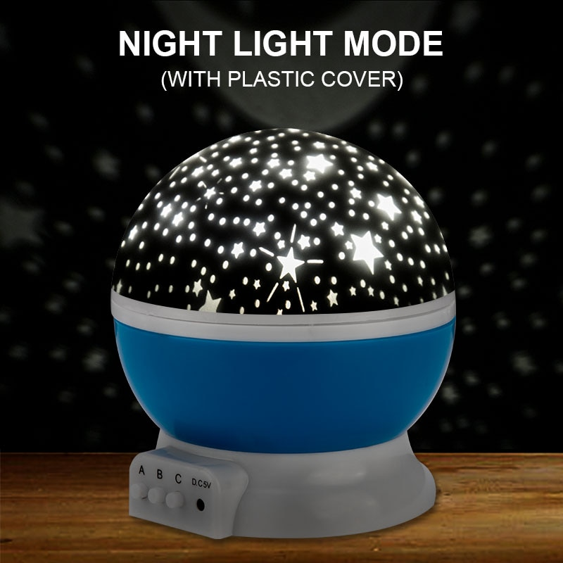 Star Projector Lamp Children Bedroom LED Night Light Baby Lamp Decor Rotating Starry Nursery Moon Galaxy Projector Table Lamp enlarge