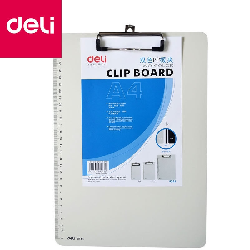 a4 multifunctional folder information folder sales clip manager talk about single clip office board clip measuring room contract Deli Plastic Clip A4 Writing Folder Board Backing Plate Clip Reading Frame Office Supplies Clip File