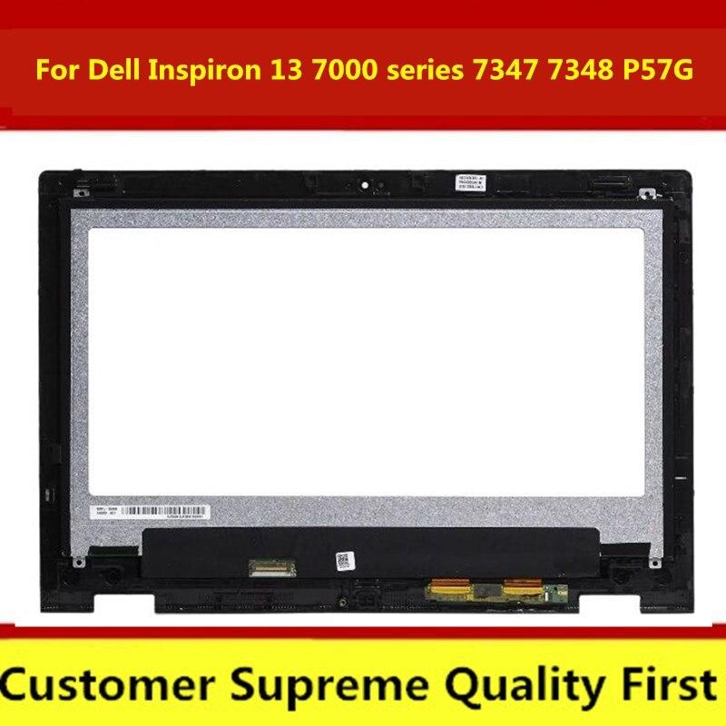 Para Dell Inspiron 13 7000 7347 7348 7359 P57G LTN133HL03-201 pantalla LCD completa digitalizador pantalla montaje + bisel