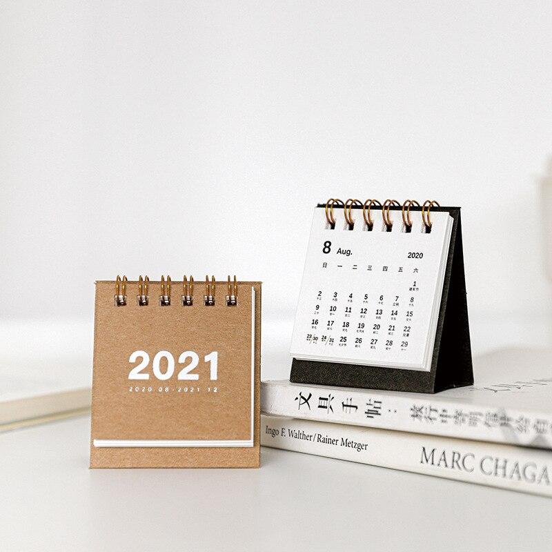 2021 цветной настольный мини-календарь, креативные настольные украшения, портативный Рабочий календарь, новогодний план, расписание, подарок...
