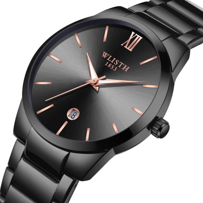 Simplicity Fashion Steel Band Men's Watches Calendar Waterproof Luminous Quartz Watch For Men Wristwatch