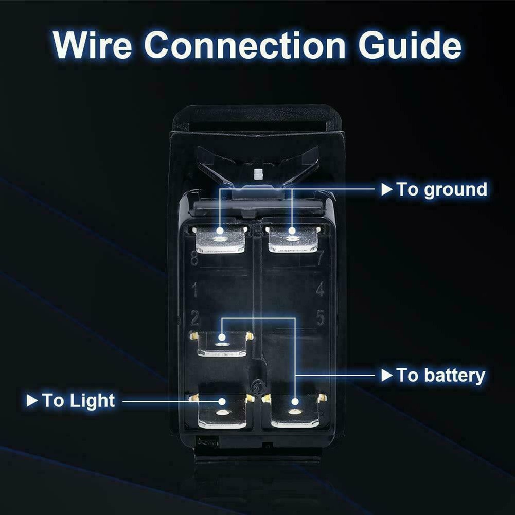 Светодиодный светильник бар переключатель белый светильник 20 Ампер аксессуары замена прочный