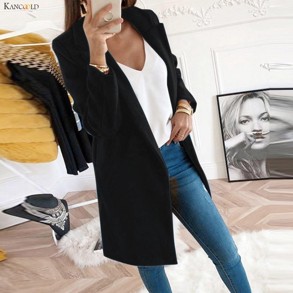KANCOOLD coats Artificial Wool Elegant Blend Slim Female Long Outerwear Winter fashion new coat and jackets women 2019Oct24