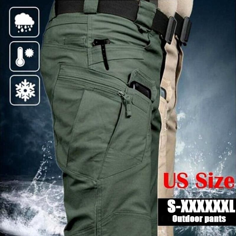 Брюки-карго мужские тактические, Повседневные Дышащие армейские длинные штаны в стиле милитари для активного отдыха и походов, водонепрони...