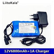 Liitokala 12V 6800mAh 3S2P grande capacité 18650 Li bande de protection de charge de batterie avec chargeur 1A