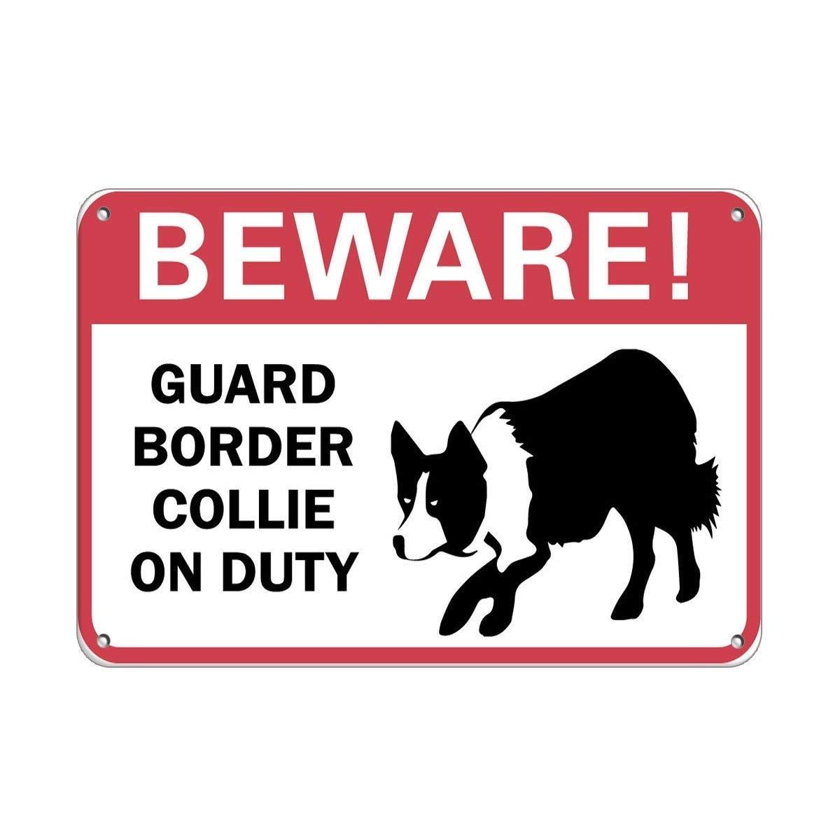 Cuidado! Border Collie de guarda de Plantão Para Animais de Estimação Animais de Alumínio Sinal De Sinal Do Metal