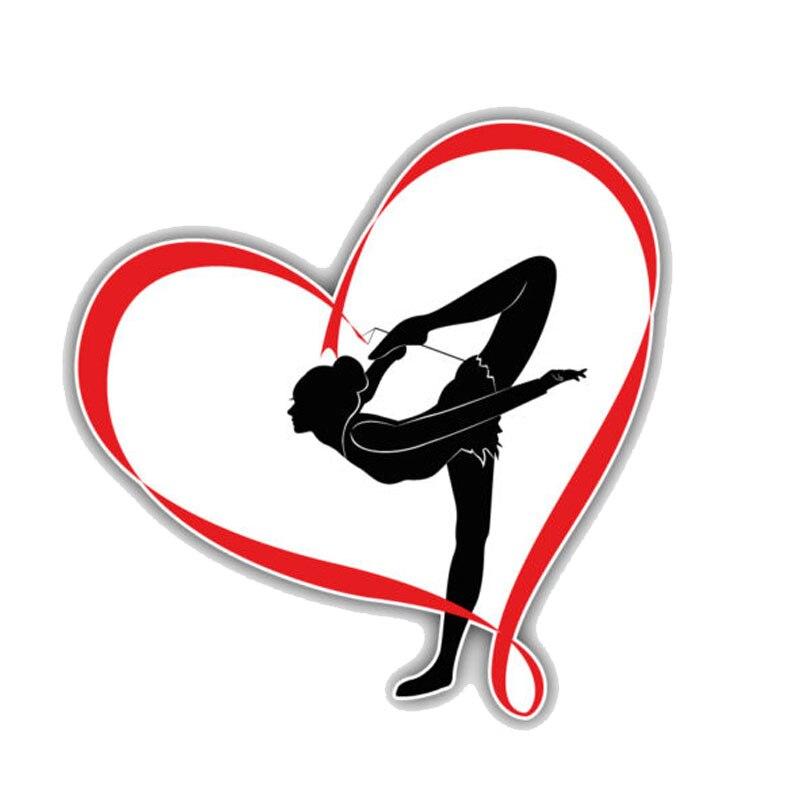 Автомобильная наклейка, забавная гимнастика, Переводные картинки в виде сердца для девушек, модные аксессуары, ПВХ окно для мотоцикла, водо...