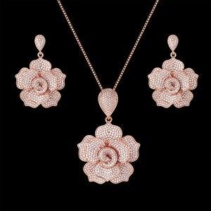 Zlxgirl jewelry Classic Nigeria Bridal Zirconia Necklace Sets For Women Jewelry sets More Dubai Nigeria CZ zircon Wedding Jewelr