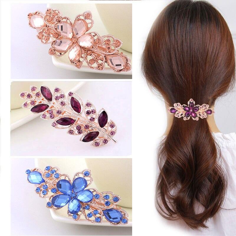 Horquillas pinzas de pelo para mujer bandas para pelo para mujer diademas de diseño Clip de pelo flor accesorios para el cabello diadema