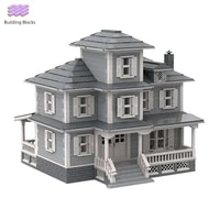 moc modular country house building blocks city street view architecture series model bricks diy collection toys for kids gifts