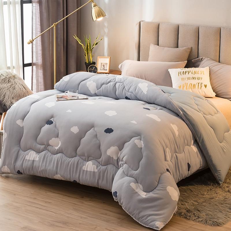 المنسوجات المنزلية الفراش المعزون الألحفة عالية الجودة الفاخرة مريحة رشاقته الشتاء الدافئة لحاف جودة خياطة بطانية