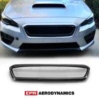 for 14 17 impreza wrx vab vaf sti cs style carbon fiber front grill pre facelifted glossy finish bumper grille cover drift kit