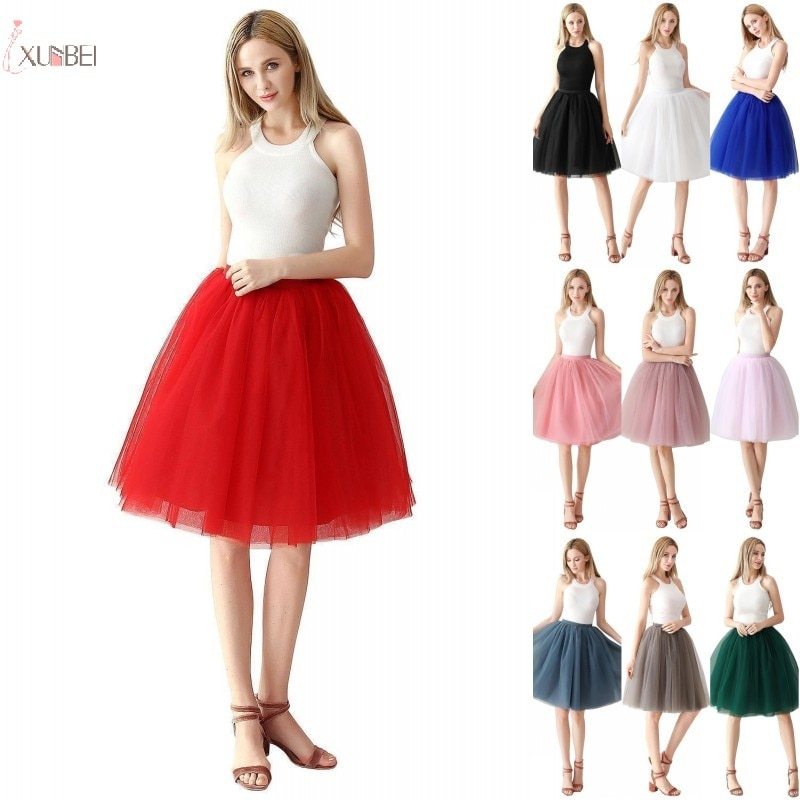 Short Red Tulle Wedding Pettciaot Crinoline Hoopless Woman Skirt Underskirt Adult Tutu Bridal Accessories 2020