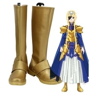 sao alice zuberg golden shoes cosplay sword art online alicization arc alice cosplay boots leather shoes custom made
