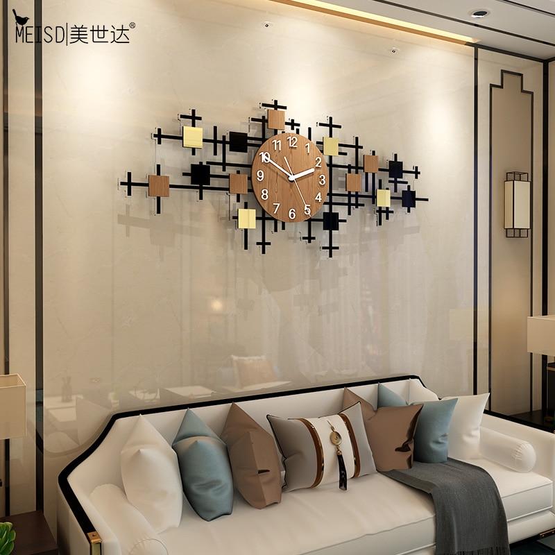 Reloj de pared grande MEISD, reloj colgante moderno silencioso de acrílico de calidad, reloj de diseño para decoración del hogar, agujas de reloj para el salón de cuarzo