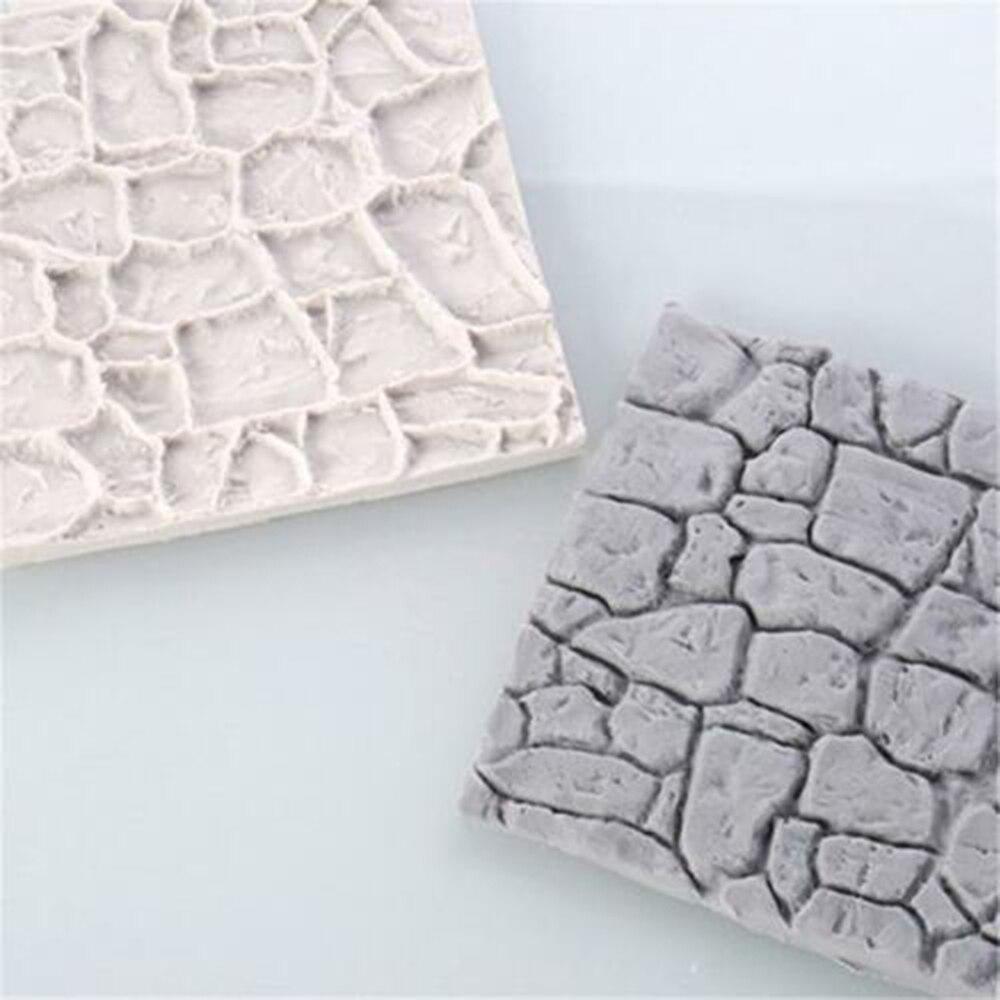 2019 nuevo molde de silicona con forma de grano de línea de pared de adoquines textura de impresión molde de azúcar dulce de caramelo molde de decoración para hornear
