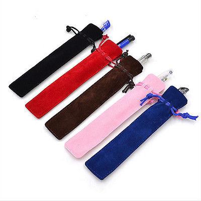 5Pcs Thicker Pen Case With Rope For Rollerball /Fountain/Ballpoint Pen Velvet Pen Pouch Holder Singl